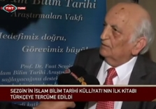 TRT Turkish | Prof. Dr. Translated by Fuat Sezgin in Turkish
